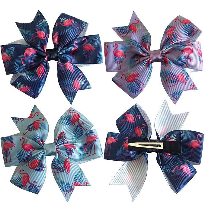 AM/_ Children Girls Lovely Hair Clip Flamingo Pineapple Bowknot Hairpin Headwear