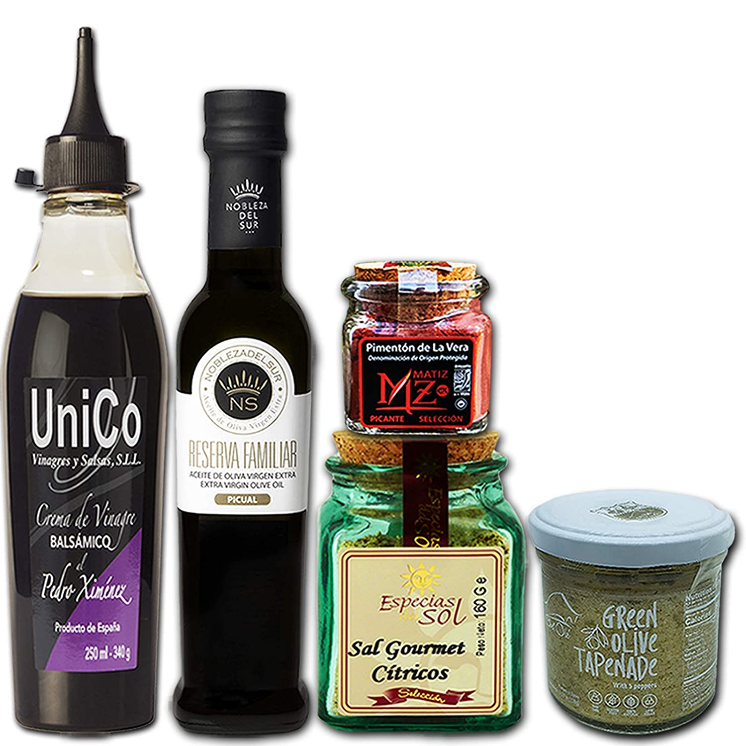 Chef Ole Picasso Gourmet Gift Basket a Noble Selection of 5 Healthy Premium Products from Spain,Natural,Artisan,Non-GMO.Spanish Food Essentials for Tapas,Paella & Wine Pairing.A Unique Foodie Gift