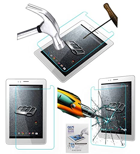 Acm Tempered Glass Screenguard for Micromax Canvas Tab P470 Tablet Screen Guard Scratch Protector Touch Screen Tablet Screen Protectors