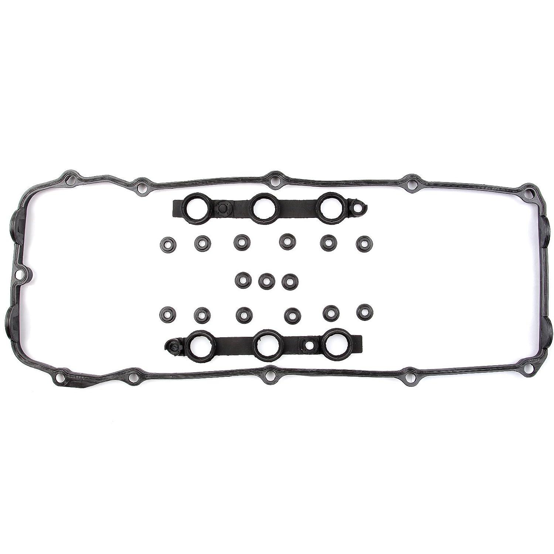 cciyu Fits BMW Cylinder Head Valve Cover Gasket Set + 15 Grommet Seals 030496