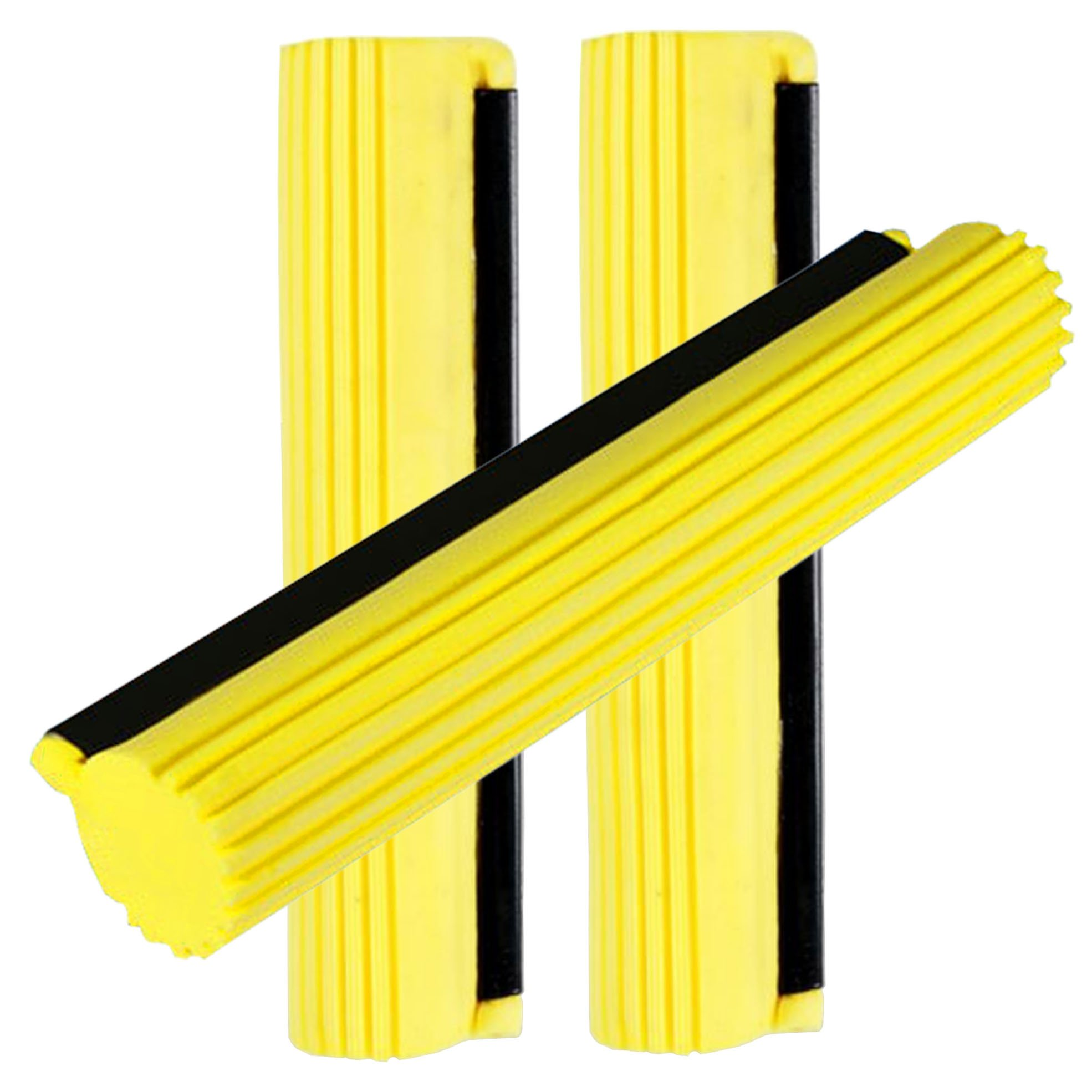 Sponge Roller Mop Head Refills,Pack of 3 Absorbent Sponge Pads Replacement,33cm-Yellow