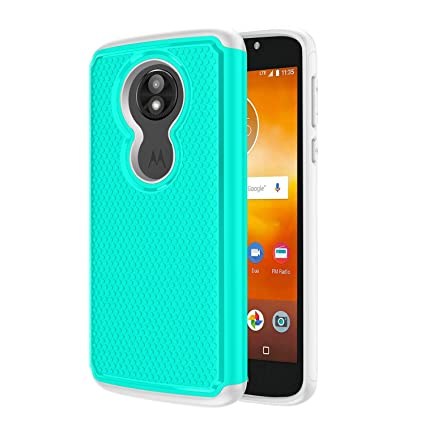 MOLAONE Moto E5 Play Case/Moto E5 Cruise Phone Case Full-Body Shockproof Impact Absoption for Men/Women PC&TPU Dual Layer Double Protection,Mint