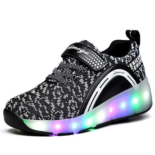Zapatillas con Ruedas- Niñas Niños Zapatilla con Luces y Ruedas: Amazon.es: Zapatos y complementos