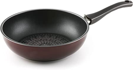 TeChef – Blooming Flower 11 Wok Stir-Fry Pan, with Teflon Platinum Non-Stick Coating PFOA Free Ceramic Coated Outside Induction Ready