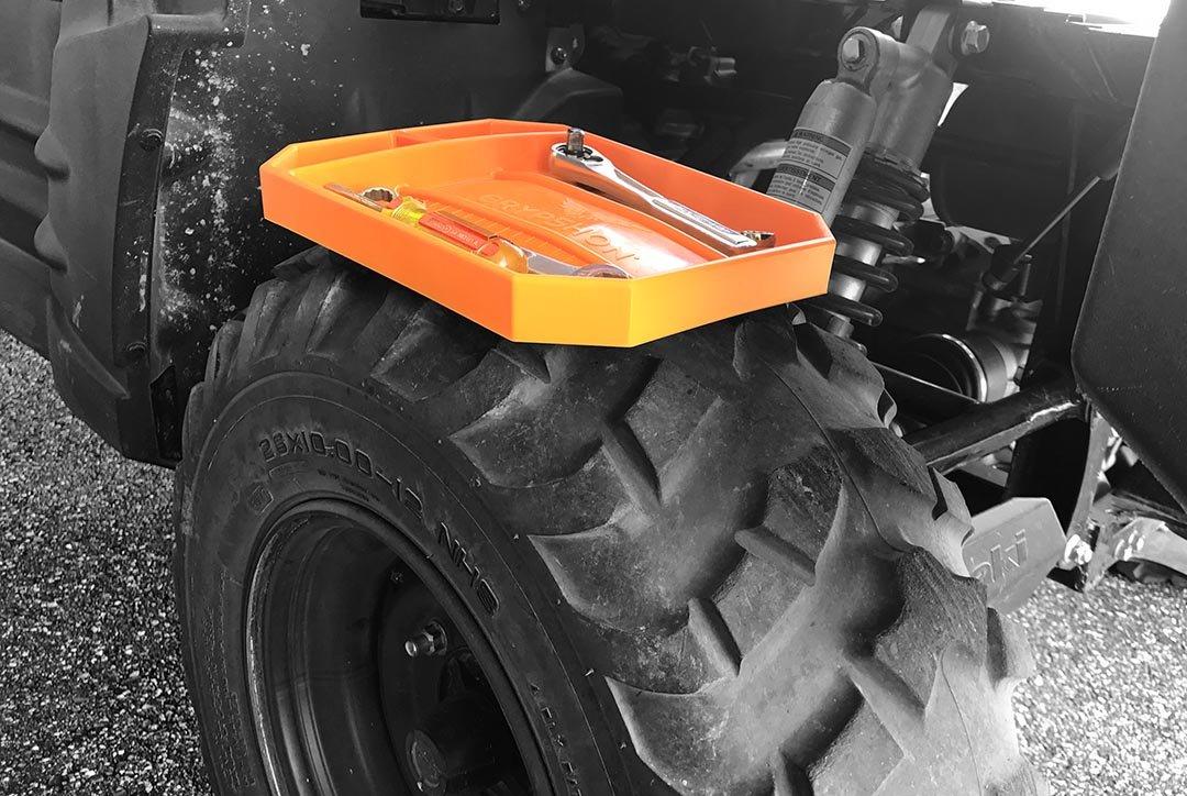 Grypmat | Non-Slip Flexible Orange Tool Tray | Tool Box Organizer | Socket Organizer | Tool Holder | Tool Mats | No Magnets | Easy Clean Up | As Seen On Shark Tank (Medium) by Grypshon (Image #8)