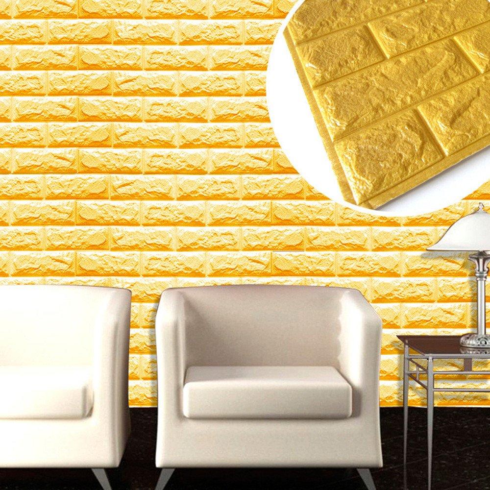Amazon.com: Embossed Brick Stone 3D Wall Sticker, Oksale® 23.6 x ...