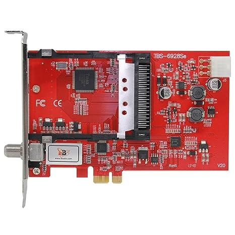 TBS PCI-E DVB-S2 Tuner tarjeta TV con CI Slot interfaz común para ...