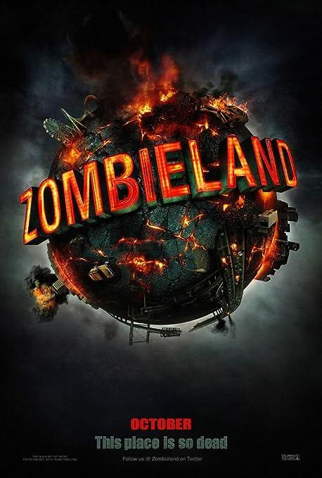 Amazon Com Zombieland Movie Poster 2 Sided Original Advance 27x40