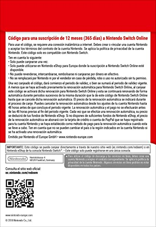 Nintendo Switch Online - 3 Meses | Nintendo Switch - Código de descarga: Amazon.es: Videojuegos