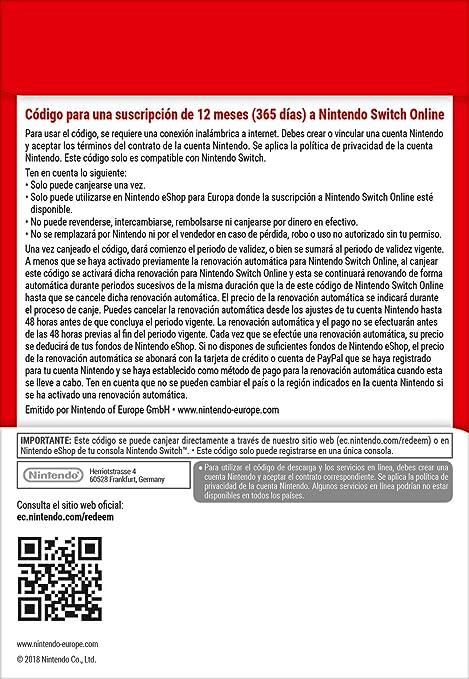 Nintendo Switch Online - 3 Meses | Nintendo Switch - Código de descarga: Amazon.es: Videojuegos