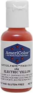 Americolor Soft Gel Paste Food Color, Electric Yellow