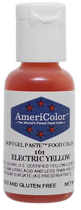 Amazon.com: Americolor Soft Gel Paste Food Color, Electric Yellow ...