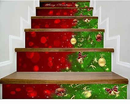 Decorazioni Per Casa Di Natale : Decorazioni per la casa adesivi murali d per scale di natale