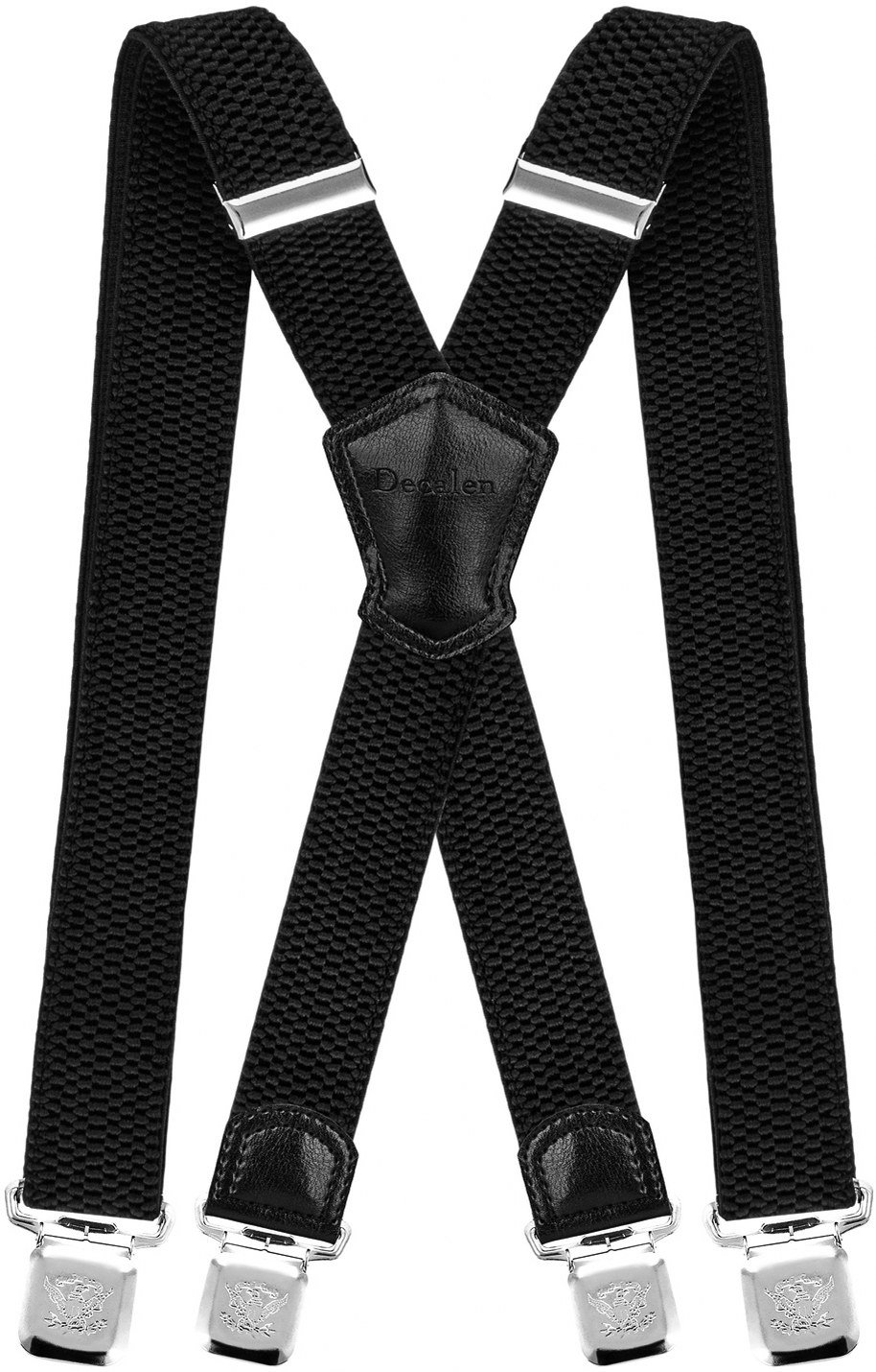 c17779575040 Decalen Mens Suspenders Very Strong Clips Heavy Duty Braces Big and Tall X  Style product image