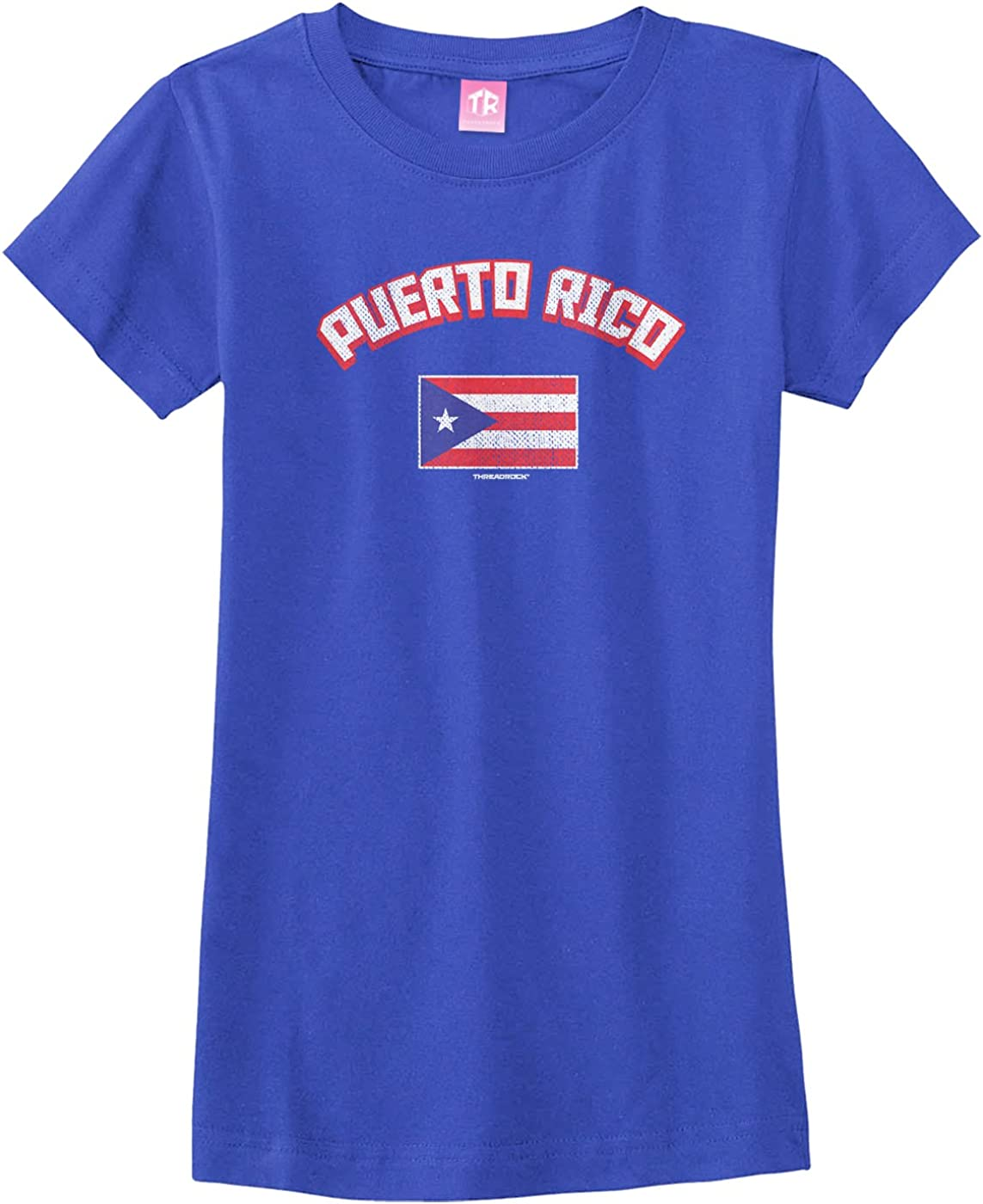 Tenacitee Boys Youth Support Puerto Rico T-Shirt