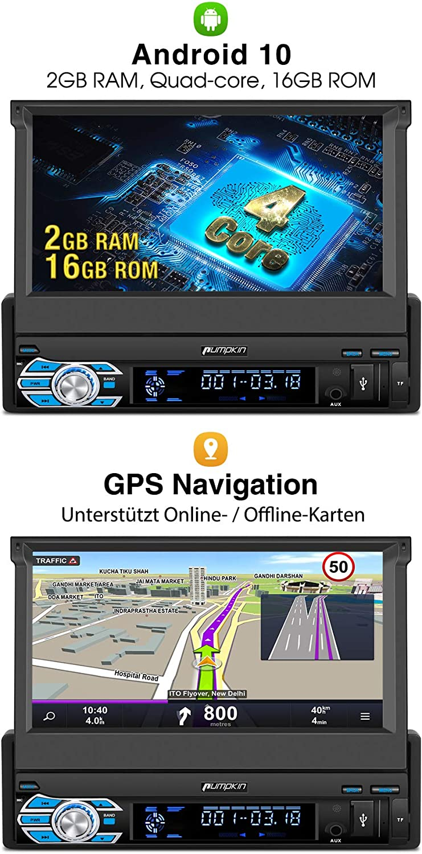 DSP Android Auto WiFi 4G USB MicroSD 7 Zoll Universal PUMPKIN ...