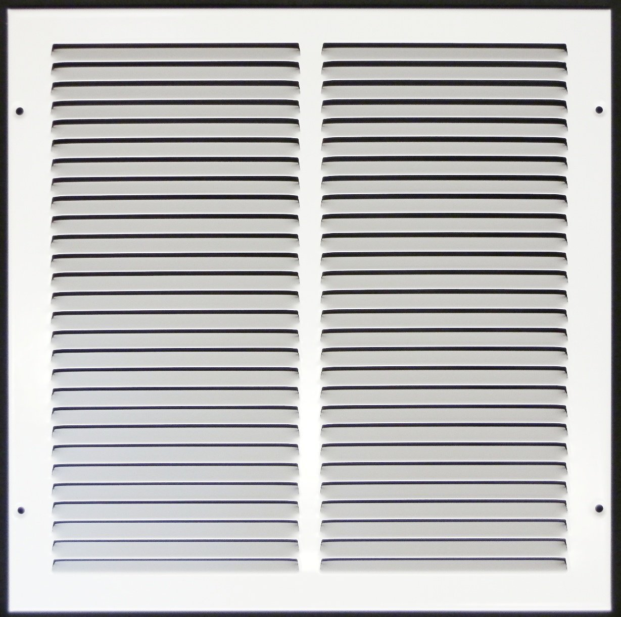 12''w X 12''h Steel Return Air Grilles - Sidewall and Cieling - HVAC DUCT COVER - White [Outer Dimensions: 13.75''w X 13.75''h]