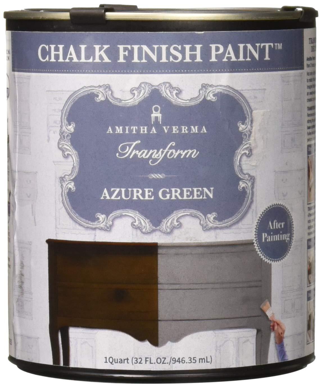 Pintura de acabado a la tiza (Chalk Paint) de Amitha Verma, sin trabajo de preparación, con solo una capa, secado rápido, para pintar usted mismo, armarios, ...