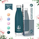 KINGSO Stainless Steel Water Bottle Sports Water Bottle Double Wall Vacuum Insulated Thermos, Sports Vacuum Flask, Keep Cold 24 Hours/Hot 12 Hours 5 Colors