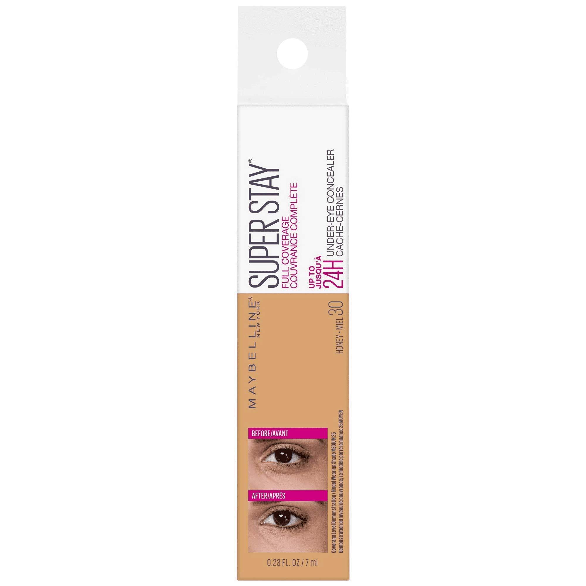 Super Stay Full Coverage Long Lasting Under-Eye Concealer, 30 Honey, 0.23 fl oz (Pack of 2)