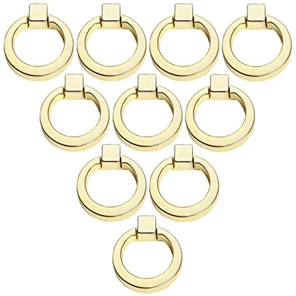 Choubao 10pcs Cabinet Drawer Ring Handles Vintage Round Zinc Alloy Drop  Handle Knob Dresser Wardrobe Cupboard