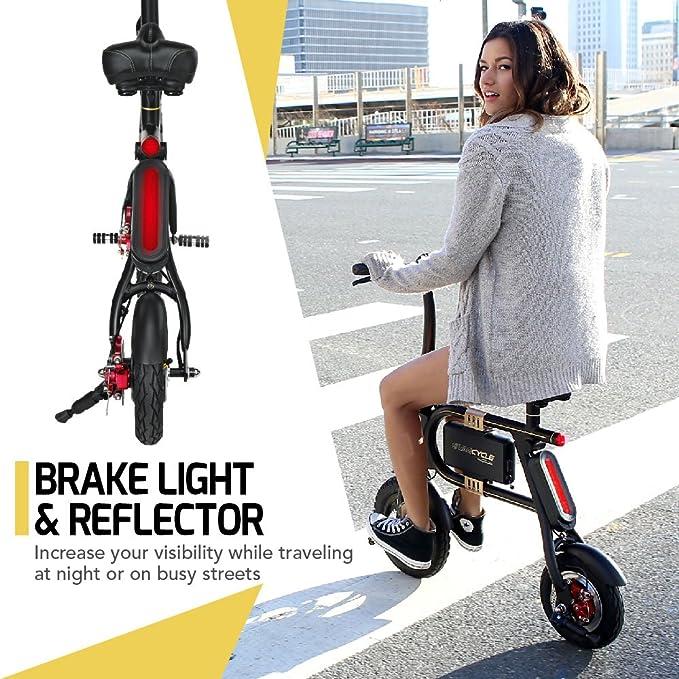 swagtron de los niños swagcycle E-Bike bicicleta eléctrica plegable, Infantil, Swagcycle, negro, talla única: Amazon.es: Deportes y aire libre