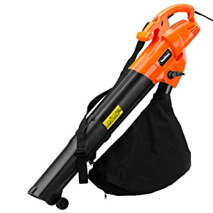 VonHaus 3 in 1 Garden Vacuum, Leaf Blower & Mulcher 2800W - Adjustable speed, 10:1 Shredding Ratio, 40L Collection Bag & 10m Cable