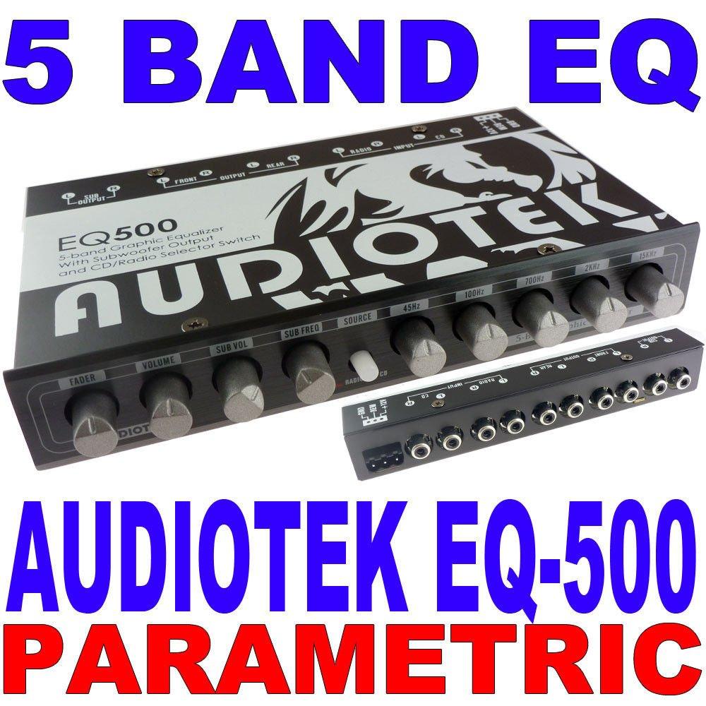 Audiotek 5 BAND PARAMETRIC EQUALIZER EQ CAR SUB CONTROL AUX INPUT INDASH AT-EQ50