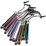 Yizhet 10x Mini lápiz stylus lápiz táctil universal de 3,5 mm de polvo para el iPhone iPad Samsung Galaxy y todos los teléfonos de la tableta Smartphone con pantalla táctil capacitiva (Normal Version)