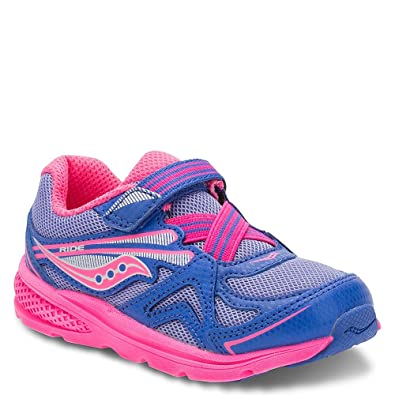 ed3b93a1d Saucony Girls' Baby Ride Sneaker (Toddler/Little Kid), Periwinkle/Pink