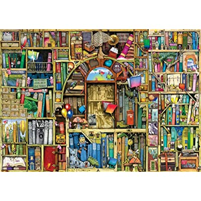 1000 Piece Jigsaw Puzzle for Adults Bizarre Bookshop Every Piece is Unique: Toys & Games