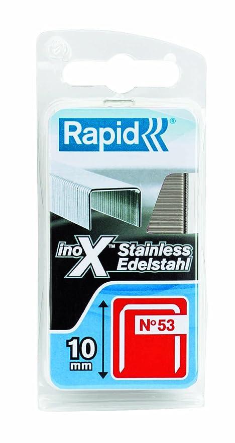 77db5d268e Rapid 40109511 No. 53 Graffe a Filo fine in Acciaio Inox 10 mm: Amazon.it:  Fai da te