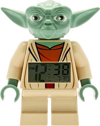 LEGO Star Wars Yoda Minifigure Alarm Clock, 9.5 , Red Model 9003080