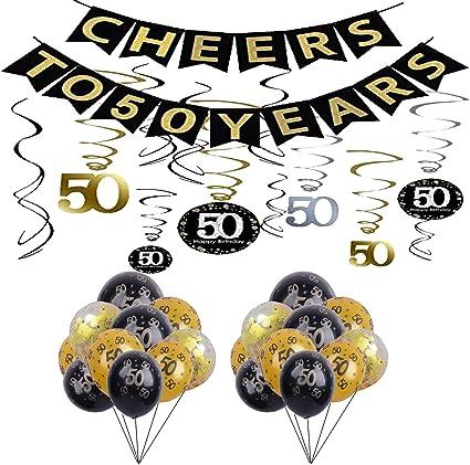 Amazon.com: Kit de decoración de fiesta de 50 cumpleaños ...