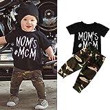 """Sagton """"Mom's MCM"""" Infant Baby Boy Letter T shirt"""