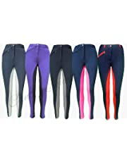 """Canter Two Tone Childrens/Kids Horse Riding Jodhpurs/Breeches from 20"""" to 30"""" Waist"""