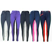 """Canter Two Tone Childrens/Kids Horse Riding Jodhpurs/Breeches. All Sizes from 20"""" to 30"""" Waist"""