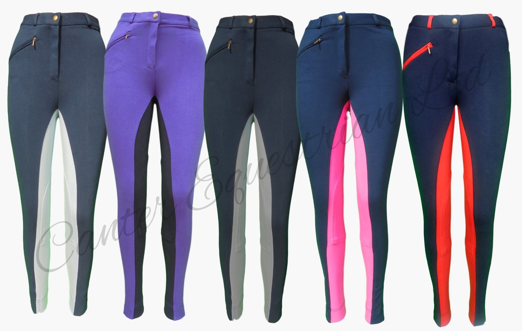 Canter Two Tone Childrens//Kids Horse Riding Jodhpurs//Breeches from 20 to 30 Waist