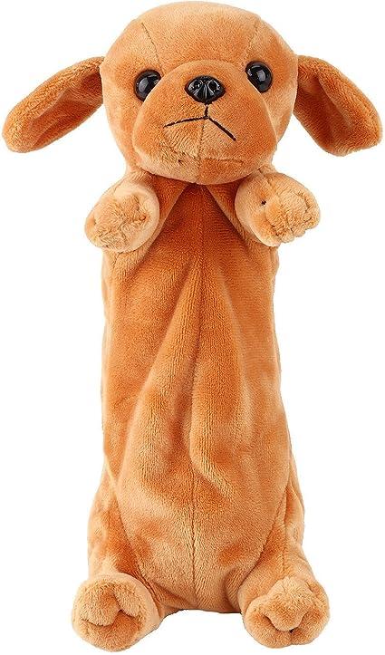Estuche Lápiz bolsa Papelería Bolsas con forma de perro de peluche Animales Pencil Case Papelería Caso dibujos animados lindo bolso de la bolsa para adolescentes Niñas Niños Estudiante regalo de Navidad: Amazon.es: