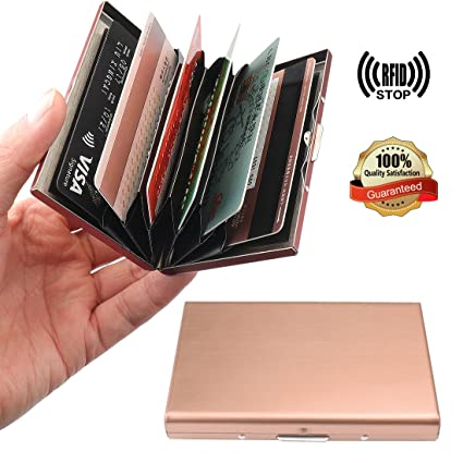 Amazon yobansa stainless steel rose gold business card holder yobansa stainless steel rose gold business card holder case wallet creidt card holder credit card case colourmoves