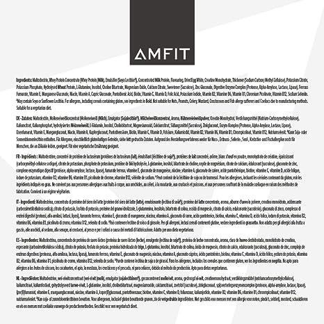 Marca Amazon - Amfit Nutrition Gainer Blend Sabor Vainilla ...