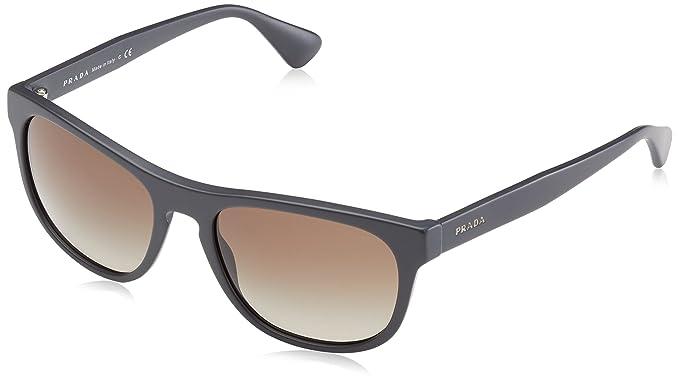 3ee0477ce Amazon.com: Prada Men's PR 14RS Matte Grey/Brown Gradient Sunglasses ...