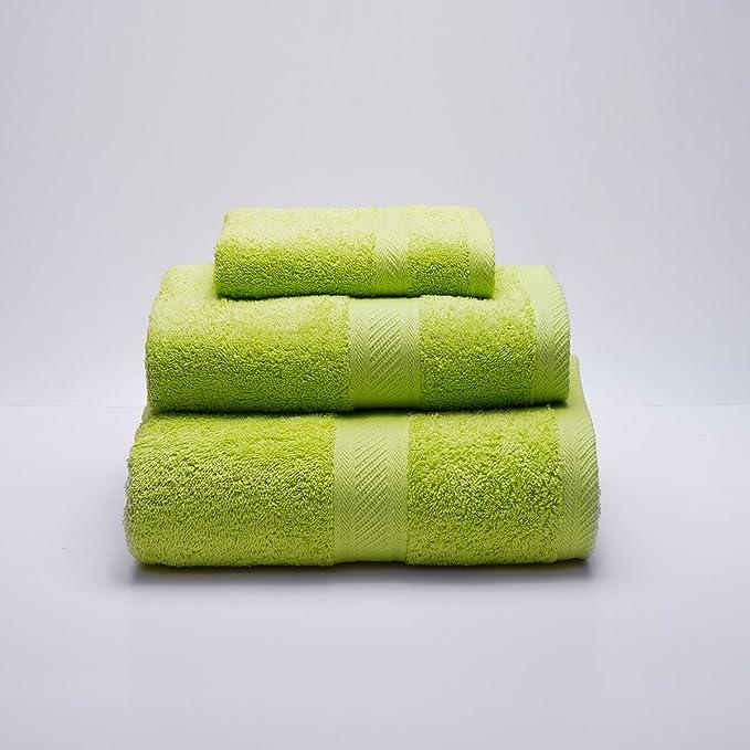 Sancarlos - Juego de 3 toallas YANAI, 100% Algodón, Color Verde ...