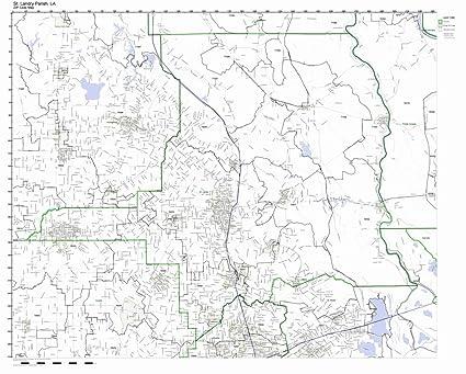 Amazon Com St Landry Parish Louisiana La Zip Code Map Not