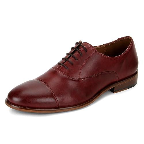 Burgundy Cap Toe Oxford Shoe