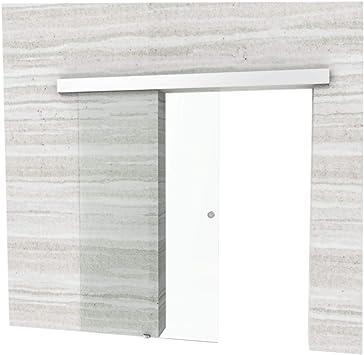 Puerta Corredera habitaciones Puerta raumtrenner Puerta Corredera de Cristal 90 X 205 cm de vidrio templado de 10 mm de grosor de cristal de seguridad con seguridad lápiz en la fijación: Amazon.es: