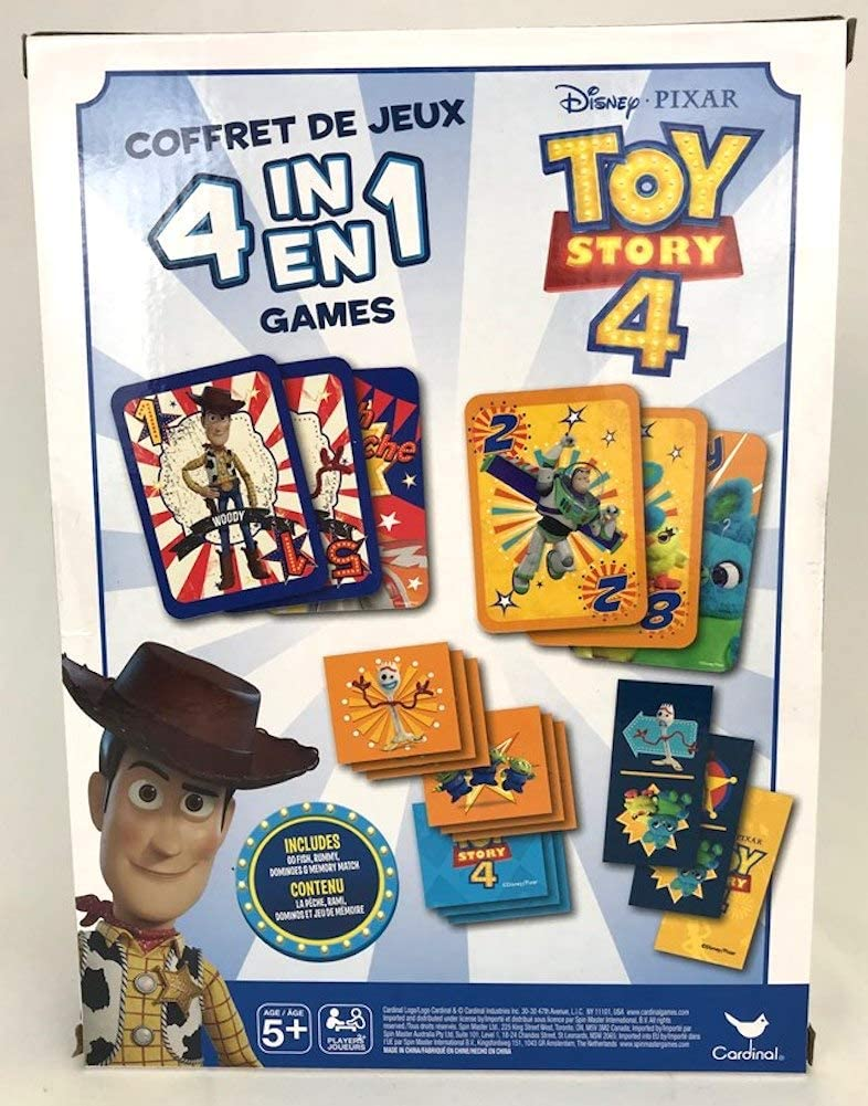 Disney Pixar Toy Story 4 Memory Match Card Matching Game NEW