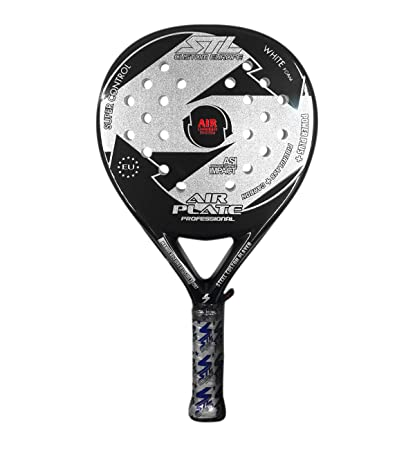Steel Custom Europe Air Plate-16 Pala de pádel, Unisex Adulto, Negro/