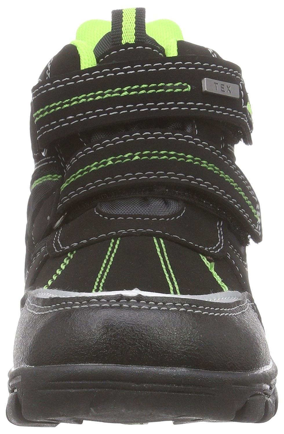 Canadians 467 184, Bottes de Neige de Hauteur Moyenne, Doublure Chaude Garçon - Noir - Schwarz (Black/Green 078), Taille 38 EU