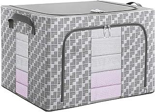 MOCHENG la scatola pieghevole per lo stoccaggio paniere scatola tessuto per i vestiti da giocare con cerniera di stoccaggio boxs